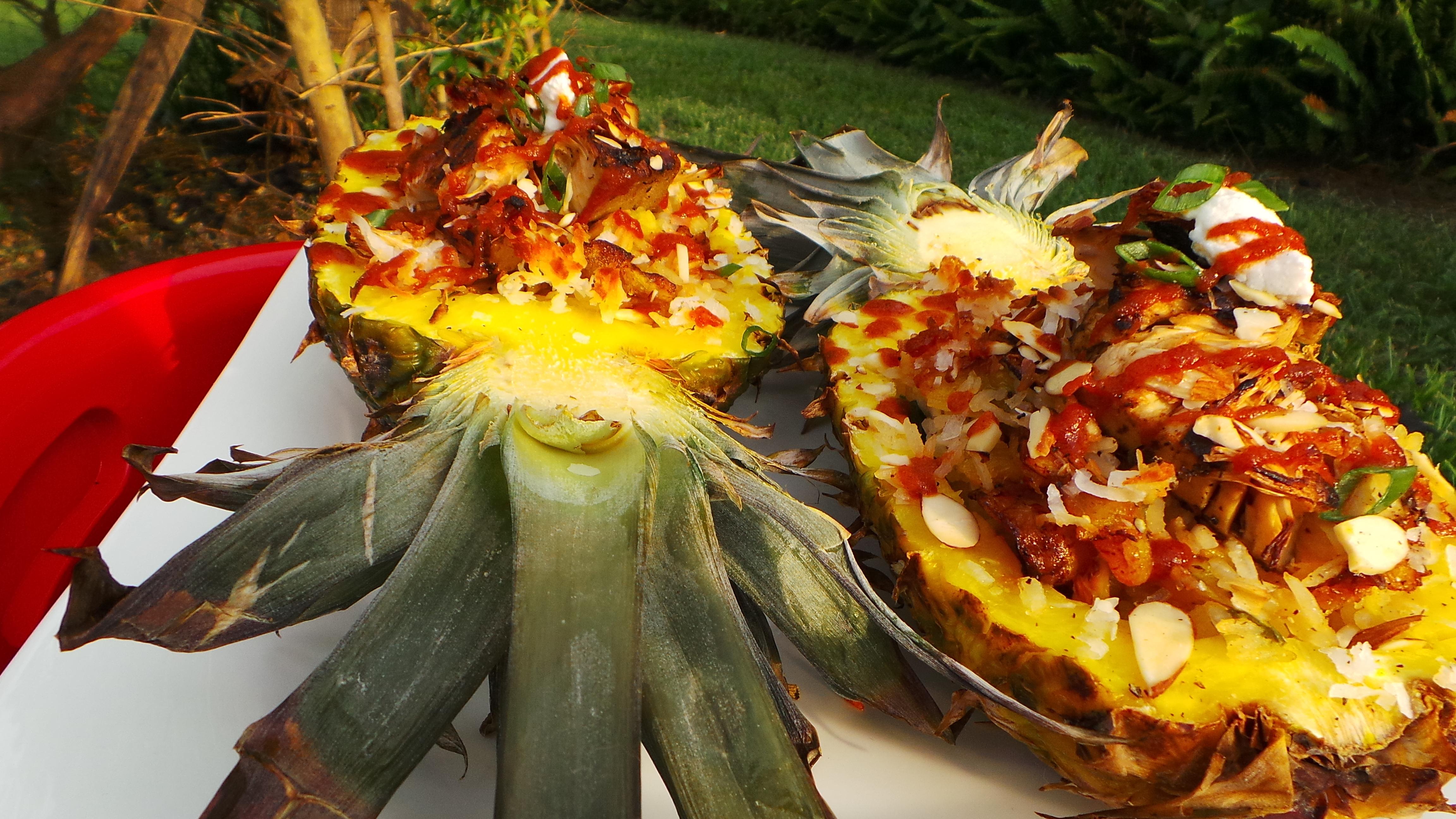 Ginger Coconut Pilaf Stuffed Pineapple