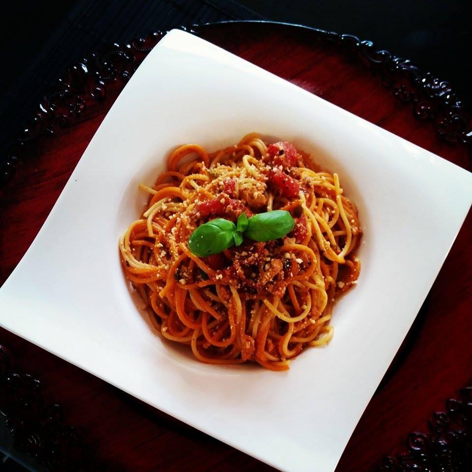 Jenn's Tofu Bolognese and Spaghetti