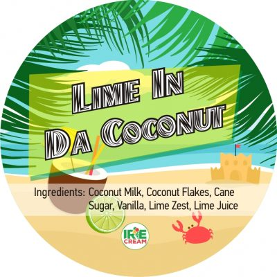 Half pint of coconut-based Irie Cream with bright hints of fresh lime throughout.